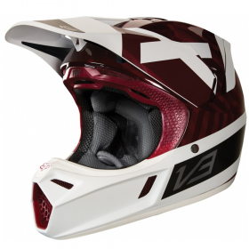 Шлем Fox V3 Preest Helmet Dark Red